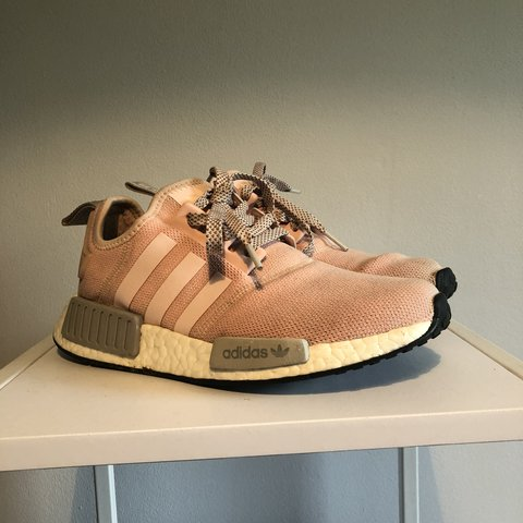 c7972fe22 RESERVED Adidas Nmd r1 - pink grey - UK 5 -rare shoe -used - Depop