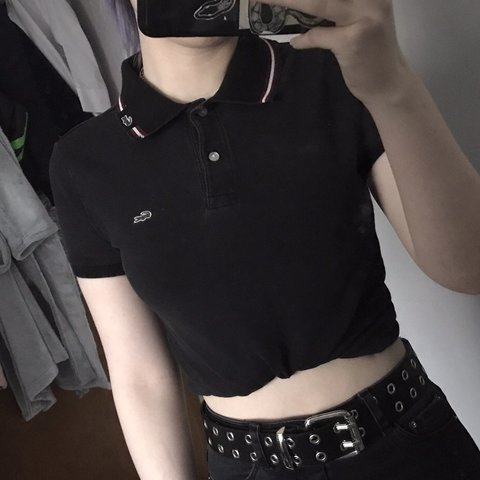 1dd294571 Women's Lacoste polo shirt, really cute when you tie up the - Depop