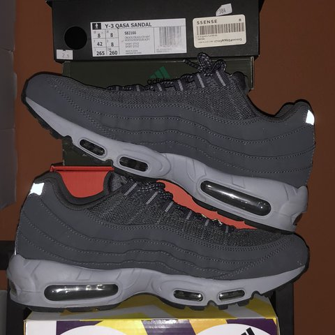 2480cbcdaf ... sale nike air max 95 wolf grey us 9.5 used worn twice depop 57679 ac776