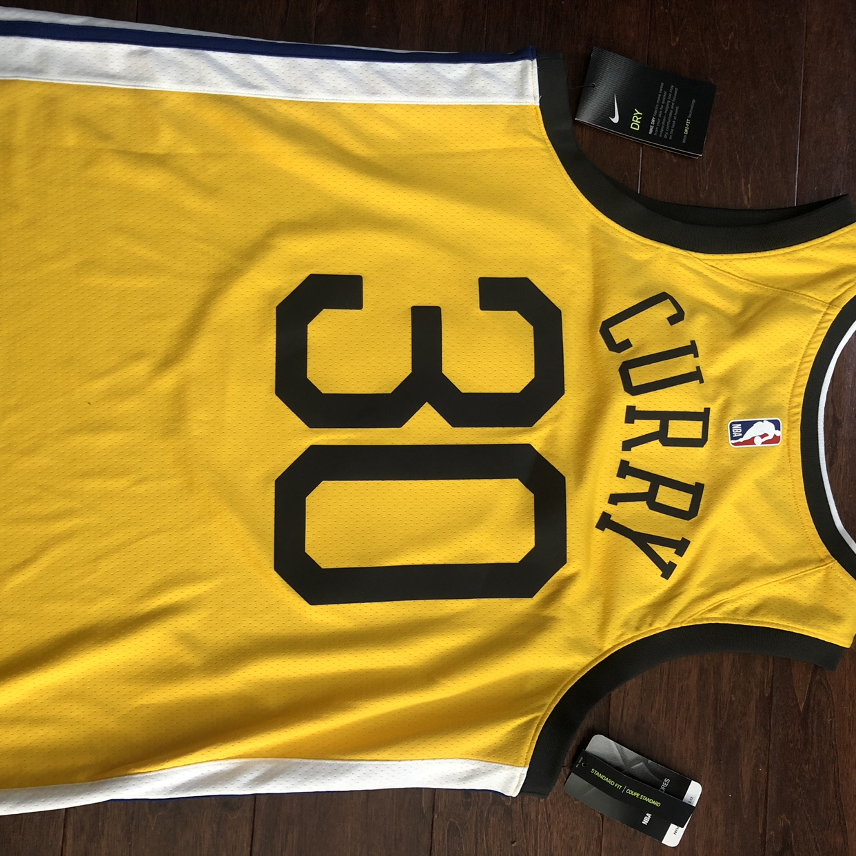 info for ba944 9c6c7 Yellow curry jersey never worn 10/10 condition with... - Depop