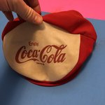 38256905588 Vintage silk Coca-cola hat. Hat has a bent bill and some the - Depop