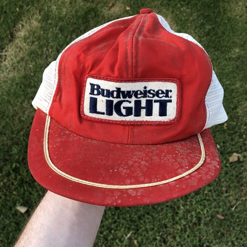 0b5def5e @core94. 7 months ago. Lexington, United States. Vintage Budweiser trucker  hat...this is a rare piece kinda ...