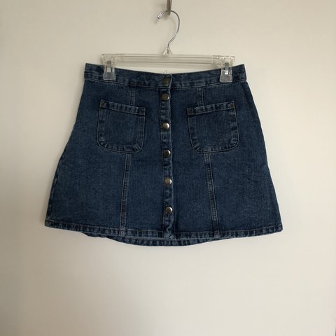 08f2a82dc1 @paytonngreen. last year. San Antonio, United States. Urban Outfitters BDG  Jean Button Skirt, Size M ...