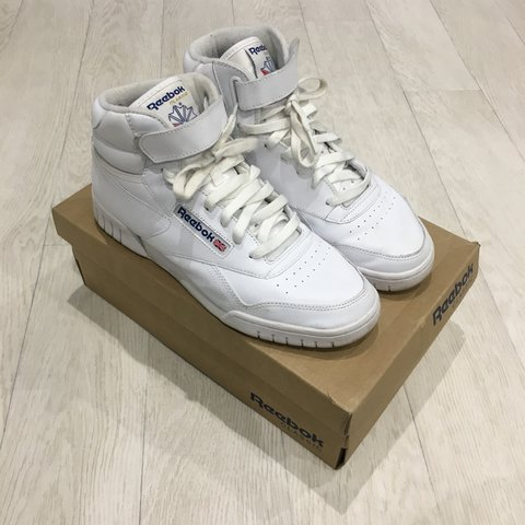 High top Reebok classics (white) great condition as you can - Depop 04614def1
