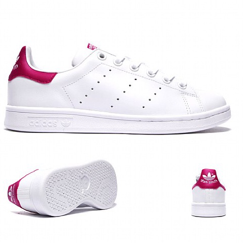 buy popular a1a34 7b5ac Adidas Pink Stan Smith - Used - 5 in Kids but can... - Depop