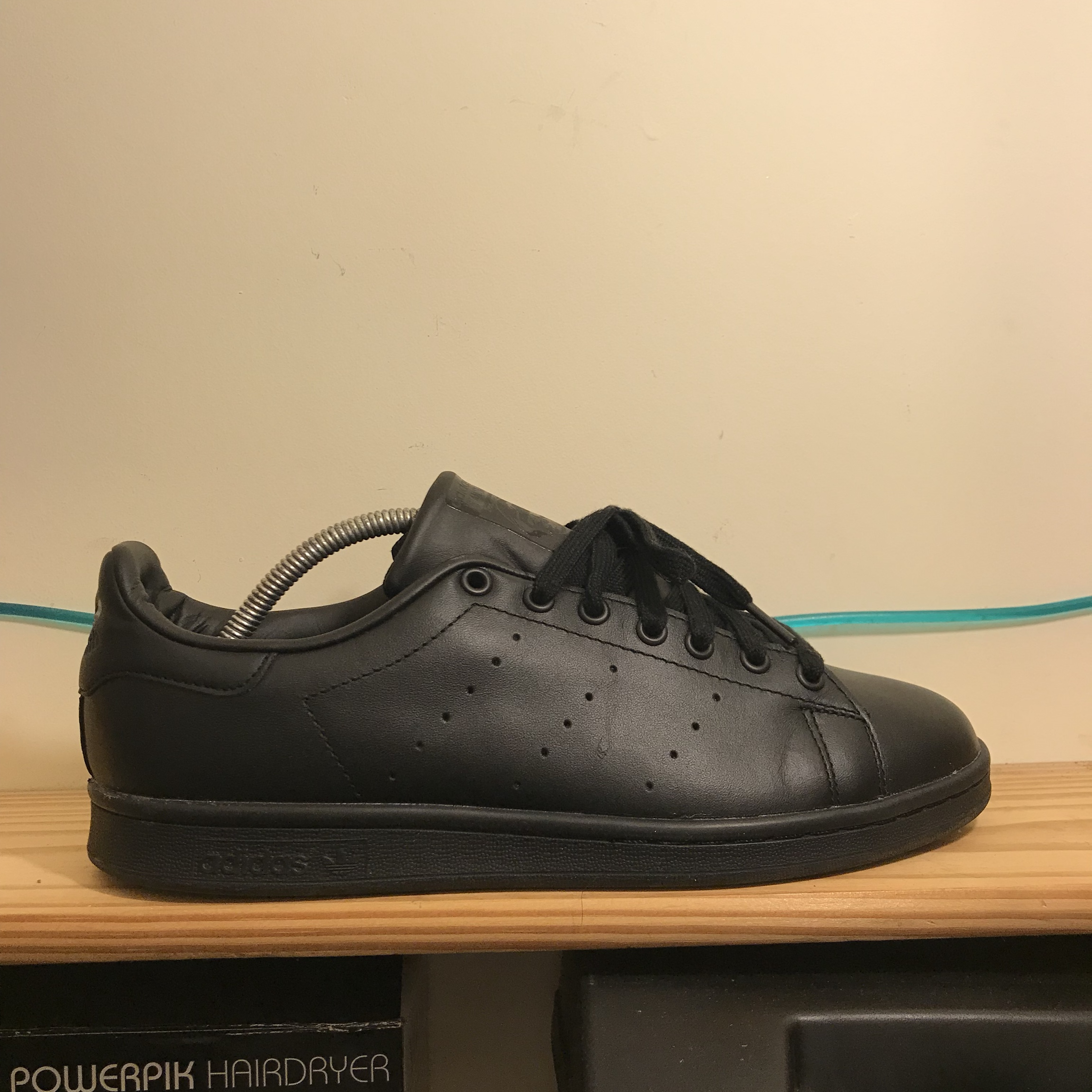 super populaire 2cd70 642b0 Adidas originals Stan smith triple black leather... - Depop