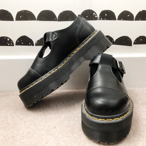 b35d7b3c6e3 Dr. Martens Bethan platform T bar shoes. Size 4. Worn look - Depop