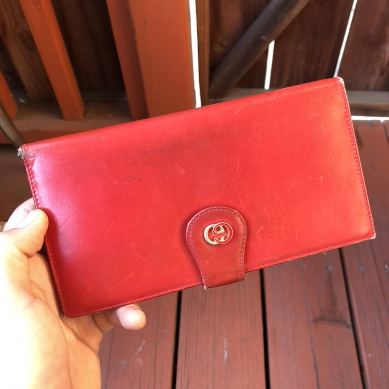 4fadfed5600 Authentic Vintage Gucci Women s Wallet. Beautiful genuine A - Depop