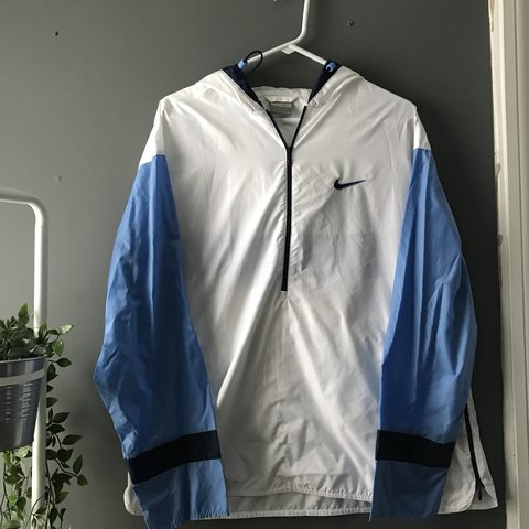 550a20ab2a97 Vintage Nike quarter zip windbreaker. 8 10 condition. Small - Depop