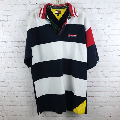 78ee42cb @thriftchickmidwest. 10 months ago. Chicago, United States. Vintage Tommy  Hilfiger Sailing Gear Polo Shirt Spell Out ...