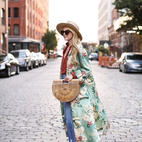 d0c6eff1 @marlso. last year. Dublin, Ireland. Zara Green Floral Printed Kimono/Dress  with belt. Size XS Worn once in perfect ...