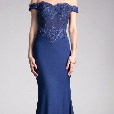 612a56fbc88b @basically_mayra. 2 months ago. Fresno, United States. Royal Blue Off The  Shoulder Prom Dress Size: Small