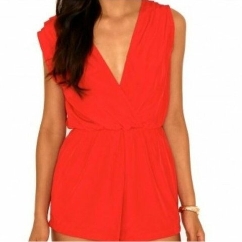 4c8013f884 Missguided red playsuit