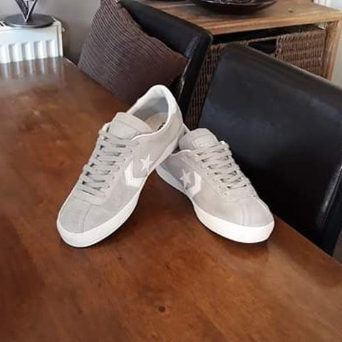 cd91a806bd9b CONVERSE ALL STAR PLAYER GREY SUEDE LEATHER LOWS SIZE UK ARE - Depop