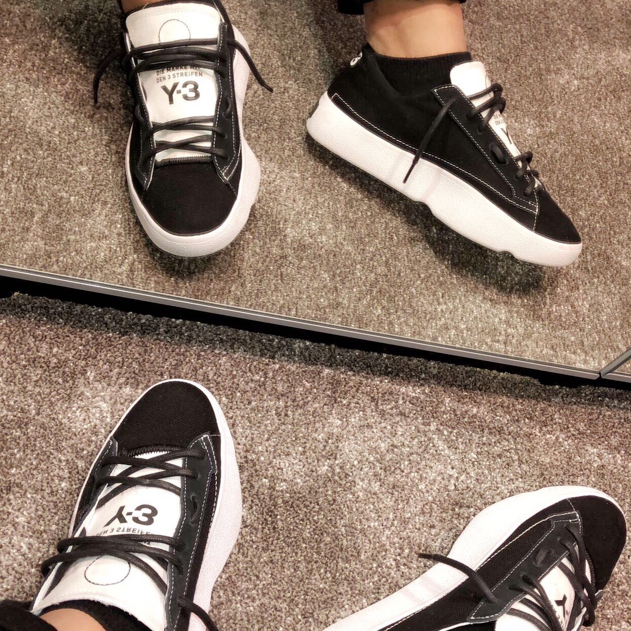 Y-3 Mens Tangutsu Lace Up Sneakers