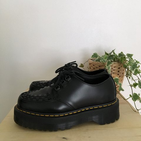 f086ba44783 Dr Martens Ashley black leather creepers. Double sole shoes - Depop
