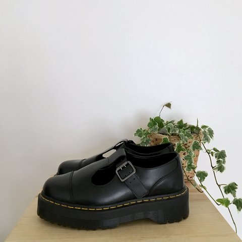 c4c7a655527  doctillyoudrop. 9 months ago. United Kingdom. Dr Martens Bethan shoes.  Double sole platform soles in black smooth leather. Mary Jane T-bar ...