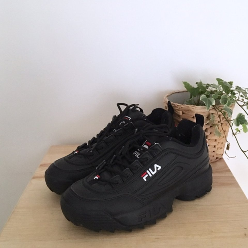 black trainers bought from ASOS. - Depop