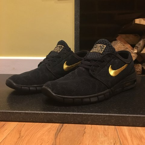 sale retailer 1260f 3c1a0  j d4510. last year. Caterham, United Kingdom. Nike SB Stefan Janoski Max,  Black and Gold ...