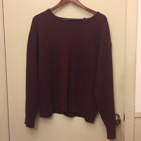 ca291ea24933 Gorgeous Jos. A. Bank 100% Merino Wool Maroon Sweater 🧵 and - Depop