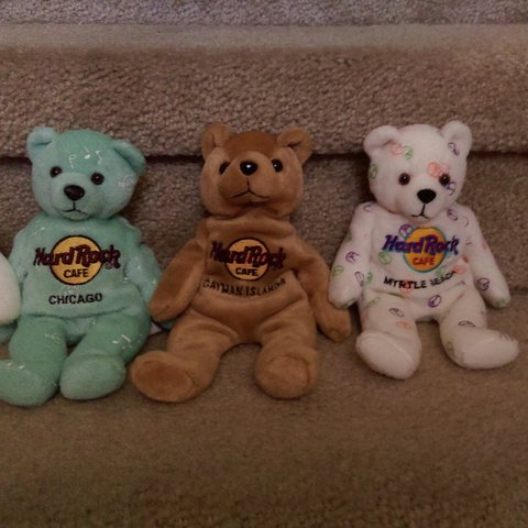 Hard Rock Cafe beanie babies bears🐻 All in perfect with no - Depop 8f732cd9f3a8