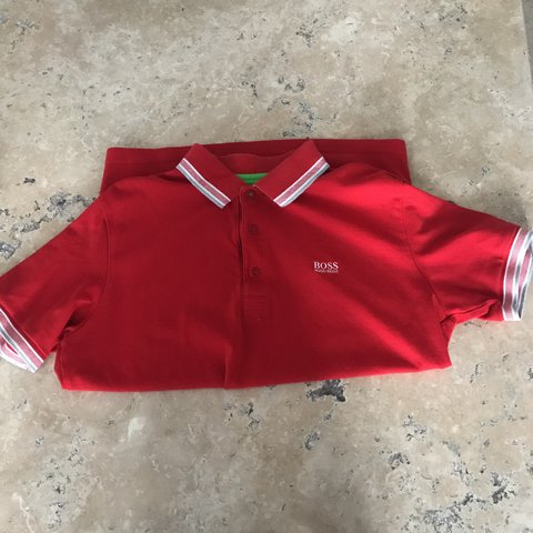 c6ff0449f @azzamck99. last year. Thornaby, United Kingdom. Men's Hugo boss polo shirt  red, Modern fit L in good condition