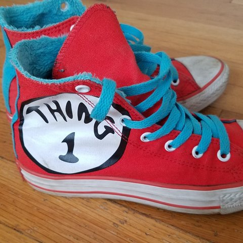 8bb0bdfedcf9 SOLD    Super lit pair of Converse Chuck Taylor RED AND - Depop