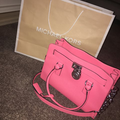 00e3c7ef9163d8 Michael kors fuschia saffiano tote bag! Bought in November a - Depop