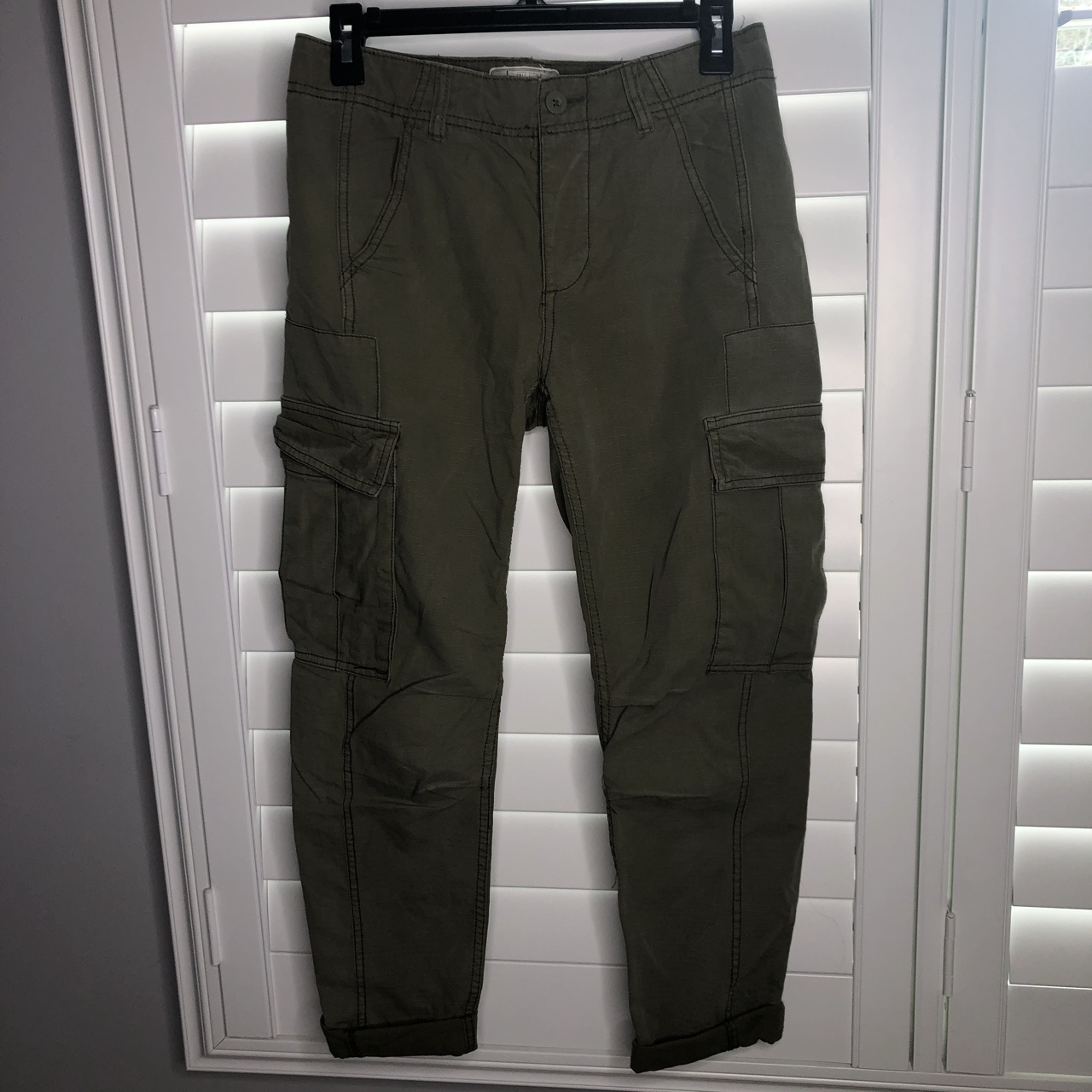 Free People Army Green Cargo Pants Very Loose Fit Depop