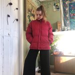 Oversized red puffer coat Amazing condition Message for Depop