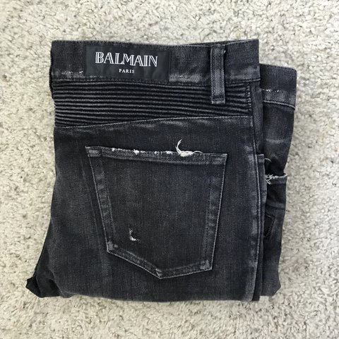 827ef011 @fresh__finds. 4 days ago. Houston, United States. Balmain Paris fashion  designer black denim ...