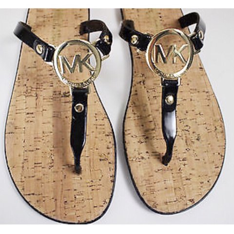 c41f27b47829 MICHAEL KORS Black MK Monogram CHARM Jelly Cork Brand New on - Depop