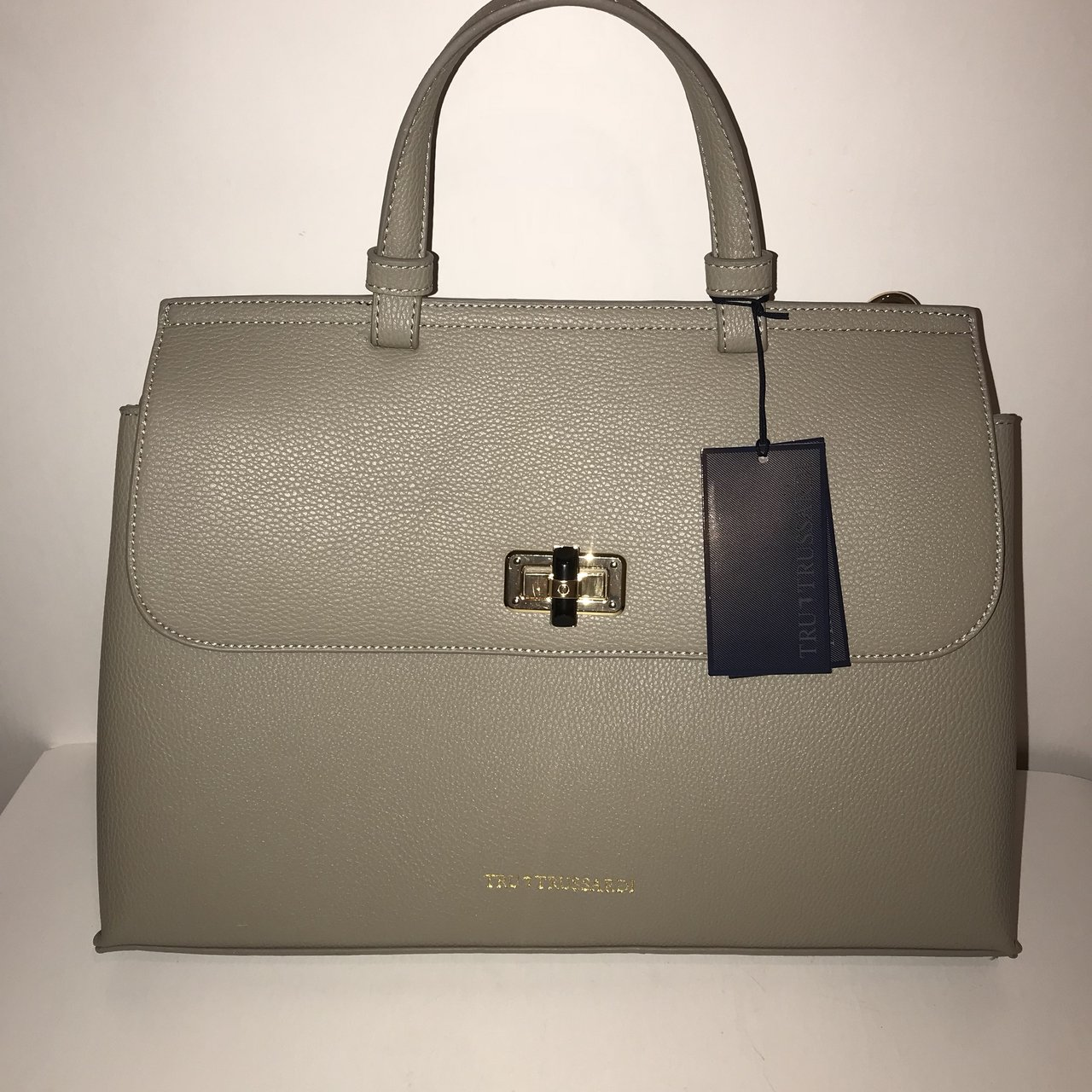 New 100% Authentic TruTrussardi Bag Taupe.  199 · Leather Crossbody Sling  Bag Durable real ef6481f3bff7f