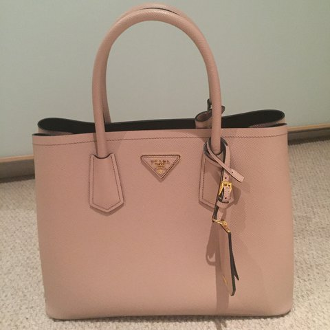 615d9c13d136 Prada double bag. Powder Pink. Used only once. Saffiano on - Depop