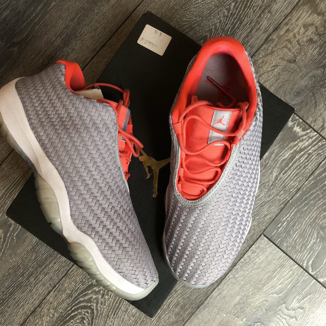 Air Jordan future low Wolf Grey infrared 23-white Uk size a - Depop 4109a37cb