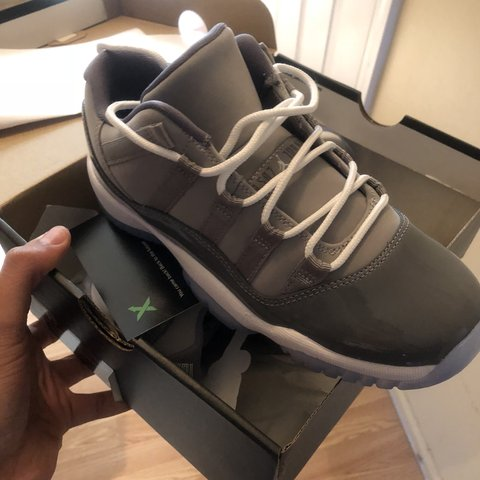 bde14559602e Nike Air Jordan XI Retro 11 Low Cool Grey 2018 528895-003 in - Depop