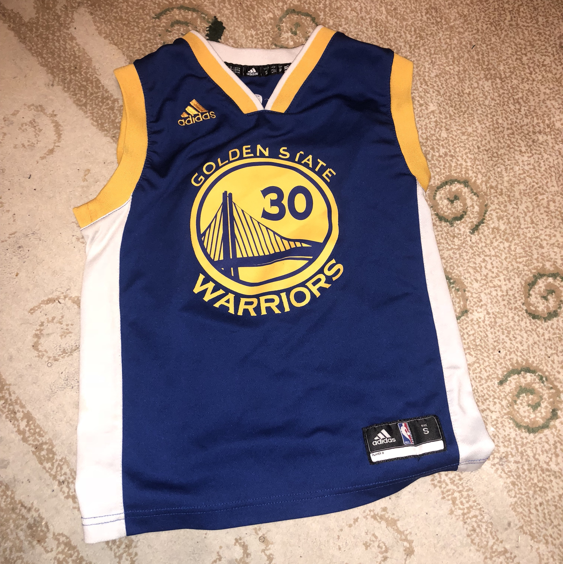 promo code addc3 050c1 Stephen Curry Jersey Adidas YOUTH KIDS Small BLUE ...