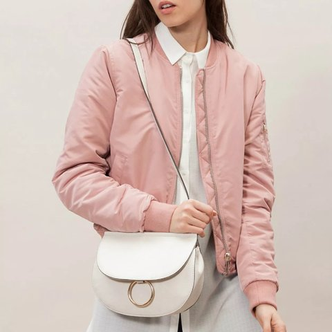 5d15941afb7 Pink bomber size small -from Stradivarius (Zara group) brand - Depop
