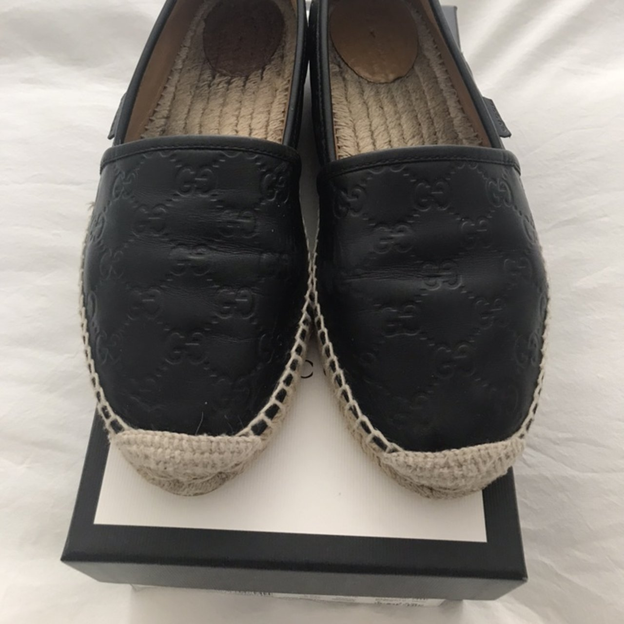 234341a9696 Gucci espadrilles black come with box and dustbag excellent - Depop