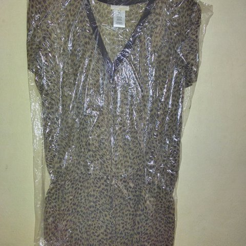 3be3b307cfcb @msangies. last year. Conroe, Montgomery County, United States. Authentic  Michael Kors Sheer Tunic Top Blouse Animal Print ...