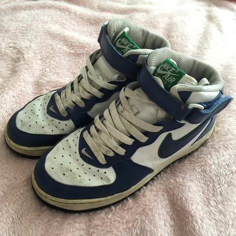 best loved 8de64 91044  heidishereen. 5 months ago. Morecambe, United Kingdom. Nike Air Force 1 Mid  (White Royal Blue Green) ...