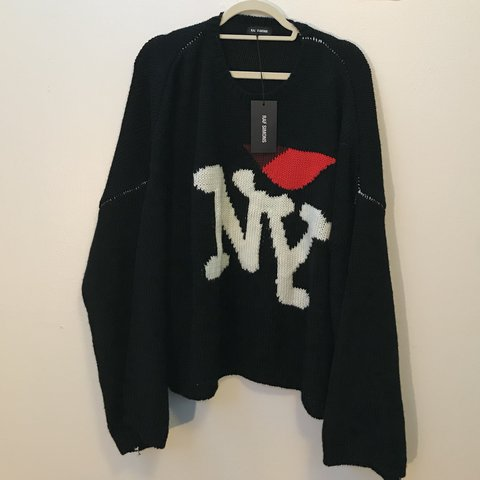 Raf Simons I Love New York Sweater Brand New Tried On Not Depop