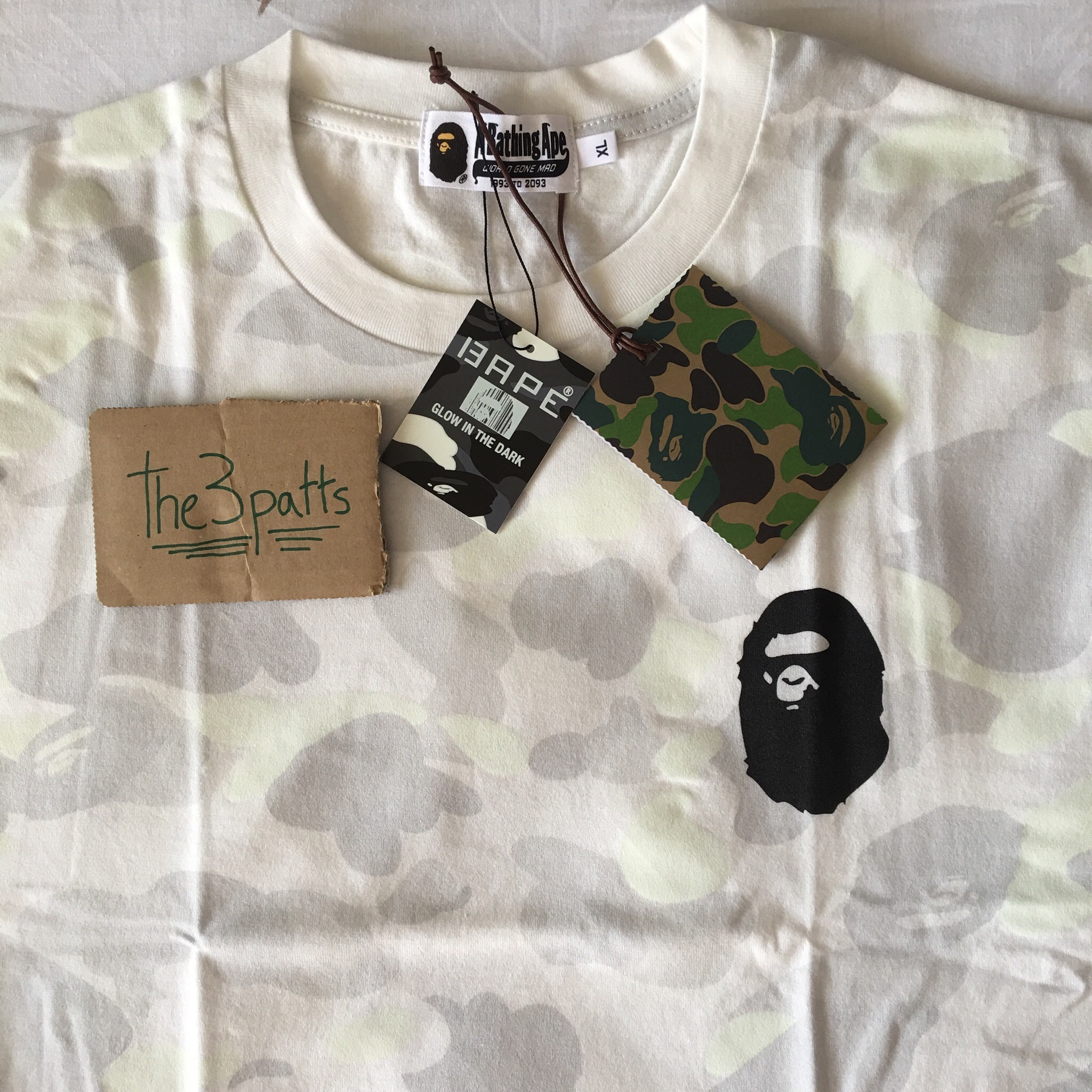 A Bathing Ape CITY CAMO SIDE SLIT APE HEAD TEE Depop