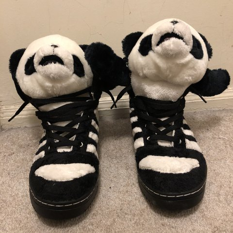 105bb192593a Adidas Jeremy Scott Pandas Size 12 Item is pre-owned in to - Depop