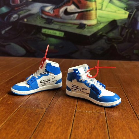 2b56318950bf Aj1 x off-white keyring A pair of shoes x box x shipping     - Depop
