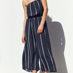a8113aceeb URBAN OUTFITTERS-navy blue striped jumpsuit Never