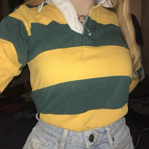 43821cce1dd @jemdeesonn. 3 months ago. Broadstairs, United Kingdom. Harrods vintage  green and yellow rugby shirt ...