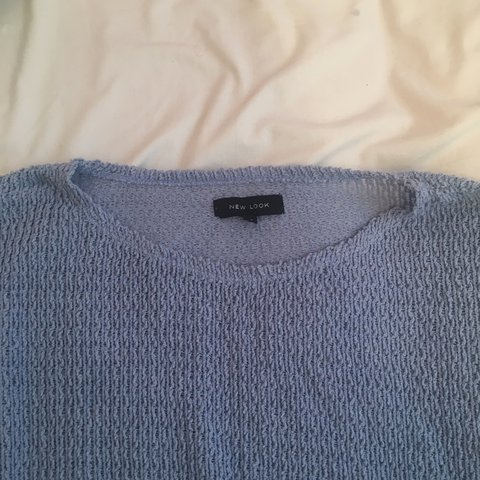 b68b2c3f9045 Lilac-ish dusty blue colour long sleeve jumper top thing. 10 - Depop