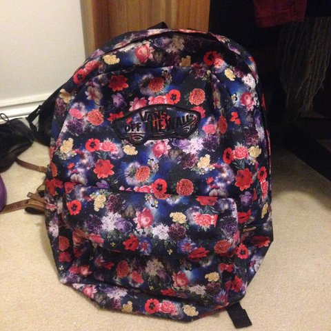 f9ce2281f61 Vans off the wall floral Galaxy style back pack, barely been - Depop