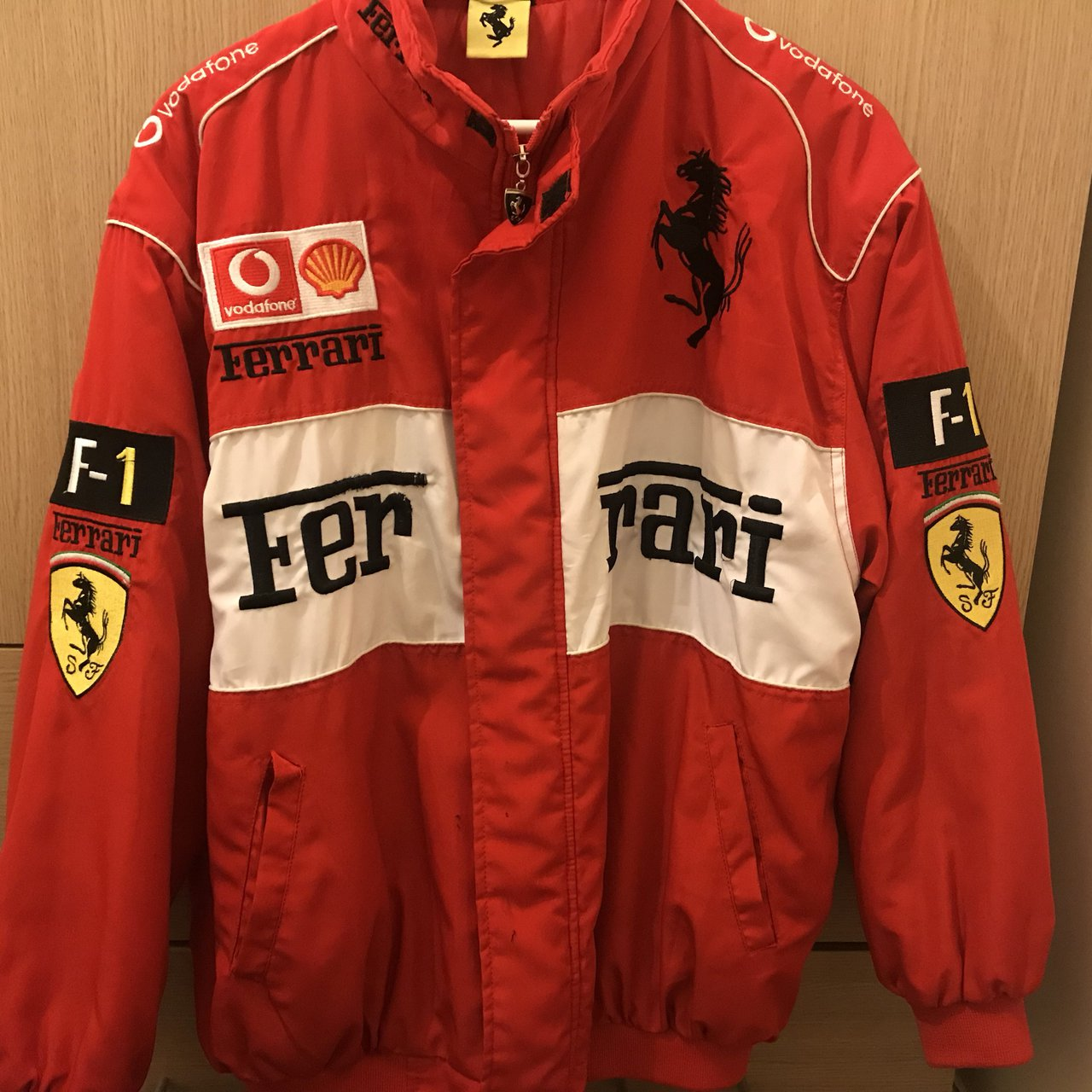 motorsport jumper racing zip puma products scuderia team red half fleece ferrari jacket official sf